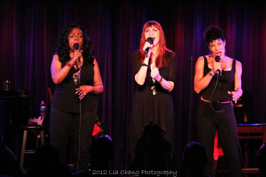 Freida Williams, Ula Hedwig and Marléne Danielle in concert at The Laurie Beechman on October 5, 2012. Photo by Lia Chang