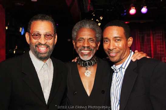 Maurice Hines, André De Shields and Motown helmer Charles Randolph Wright at The Laurie Beechman on October 5, 2012. Photo by Lia Chang