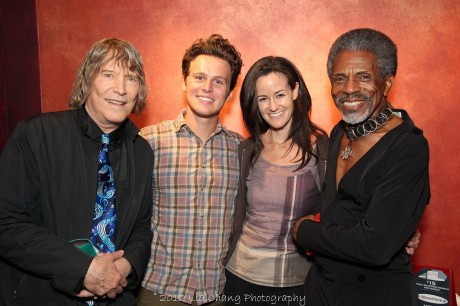 James Rado, Jonathan Groff, Kimberly Grigsby and André De Shields at The Laurie Beechman on October 5, 2012. Photo by Lia Chang