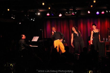 Larry Spivak, Freida Williams, André De Shields and Marléne Danielle in concert at The Laurie Beechman on October 5, 2012. Photo by Lia Chang