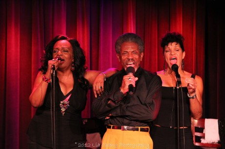 Freida Williams, André De Shields and Marléne Danielle in concert at The Laurie Beechman on October 5, 2012. Photo by Lia Chang