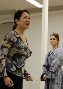 Christine Toy Johnson as Lady Thiang and Tamara Jenkins as Anna, in The King and I. Photo by Lia Chang