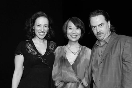 Melissa Friedman, Jeanne Sakata and Ron Russell after the opening performance of Hold These Truths at the Theatre at the 14th Street Y in New York on October 21, 2012. Photo by Lia Chang