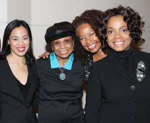 Lia Chang, Micki Grant, Lorey Hayes and Denise Burse at the Schomburg Center for Research in Black Culture in New York after the reading of Lorey Hayes' Power Play on October 18, 2012. Photo by Will Chang