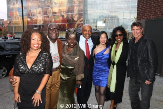 POWER PLAYERS: playwright Lorey Hayes, executive producer Voza Rivers, Phyllis Yvonne Stickney, Roscoe Orman, Lia Chang, Pauletta Pearson Washington and Jeff Wallner outside the Schomburg Center in New York on October 18, 2012. Photo by Will Chang