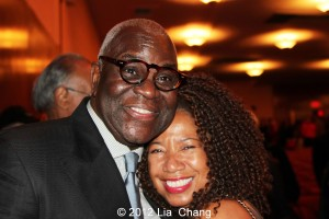 """Voza Rivers and Lorey Hayes at the Manhattan School of Music's """"Harlem Hothouses"""" Concert celebrating the Greater Harlem Chamber of Commerce, in New York on October 26, 2012. Photo by Lia Chang"""