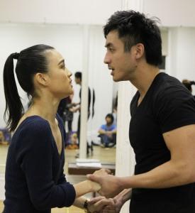 YoonJeong Seong as Tuptim and Hansel Tan as Lun Tha in The King and I. Photo by Lia Chang