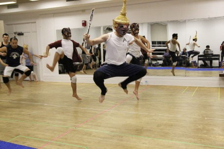 Dancers rehearsing a number from The King and I. Photo by Lia Chang