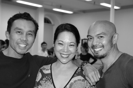 Ron Domingo, Christine Toy Johnson and Mel Sagrado Maghuyop. Photo by Lia Chang