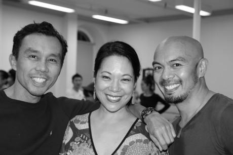 Ron Domingo, Christine Toy Johnson and Mel Sagrado Maghuyop. Photo by Lia Chang