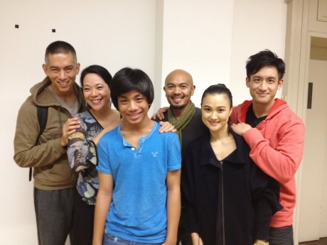 Choreographer Andrew Sakaguchi, Christine Toy Johnson, Jon Viktor Corpuz, Mel Sagrado Maghuyop, YoonJeong Seong and Hansel Tan. Photo by Lia Chang