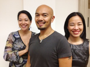 Christine Toy Johnson, Mel Sagrado Maghuyop and Lia Chang. Photo by Hansel Tan