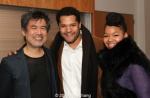 The Piano Lesson leading man Brandon Dirden, Golden Child playwright David Henry Hwang and Crystal Dickinson Photo by Lia Chang