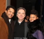 The Piano Lesson leading man Brandon Dirden, Signature's founding artistic director James Houghton and Crystal Dickinson (Photo by Lia Chang)