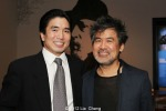 Golden Child star Greg Watanabe and playwright David Henry Hwang. Photo by Lia Chang