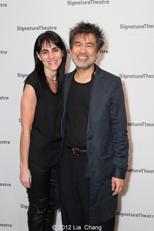 Director Leigh Silverman and David Henry Hwang  after the opening night performance of Golden Child at the Pershing Square Signature Center in New York on November 13, 2012.  Photo by Lia Chang