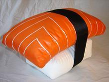 The Original Sushi Pillow: Salmon Nigiri