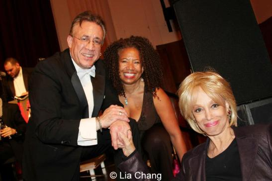 Conductor and percussionist Bobby Sanabria, Lorey Hayes and Mercedes Ellington at the Manhattan School of Music's Harlem Hothouses Concert celebrating the Greater Harlem Chamber of Commerce in New York on October 26, 2012. Photo by Lia Chang