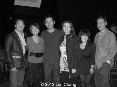 Daniel Dae Kim, Jeanne Sakata, Joel de la Fuente, Lisa Rothe, Ann Harada, Sung Rno after a performance of Jeanne Sakata's Hold These Truths at The Theatre at the 14th Street Y in New York on November 12, 2012. Photo by Lia Chang