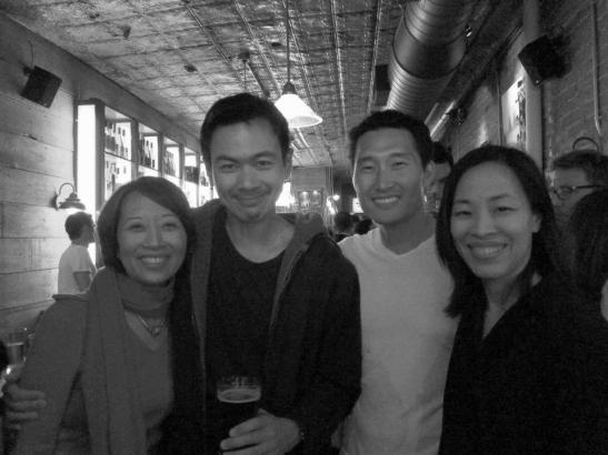 Jeanne Sakata, Joel de la Fuente, Daniel Dae Kim and Lia Chang. Photo by Ann Harada