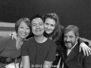 Jeanne Sakata, Joel de la Fuente, Lisa Rothe and Robert Chelimsky. Photo by Lia Chang