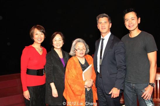 Jeanne Sakata, Kathryn Bannai, Suki Ports, Greg Kimura and Joel de la Fuente. Photo by Lia Chang