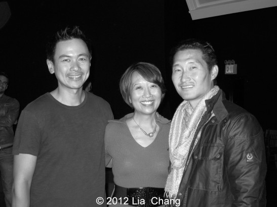Joel de la Fuente, Jeanne Sakata and Daniel Dae Kim at Hold These Truths at The Theatre at the 14th Street Y in New York on November 12, 2012.. Photo by Lia Chang