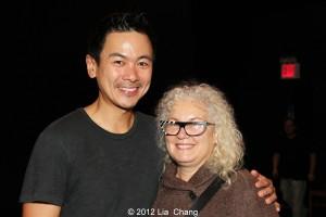 Joel de la Fuente and casting director Meg Simon. Photo by Lia Chang