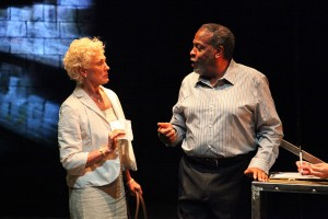 Keliher Walsh and Meshach Taylor in Year of the Rabbit. Photo by Betsy Newman