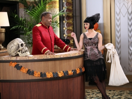 "Meshach Taylor and Debby Ryan in JESSIE - ""The Whining"" which aired on the Disney Channel in October, 2012. (DISNEY CHANNEL/ADAM LARKEY)"