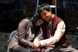 "Lipica Shah as ""Sunita"" and Debargo Sanyal as ""Mr. Scroogewala"" from LAUGHistan's World Premiere of ""BUMBUG The Musical"". Photo Credit: Lia Chang"