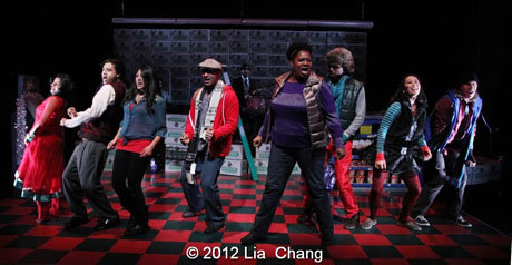 "The cast of LAUGHistan's World Premiere of ""BUMBUG The Musical"". Photo Credit: Lia Chang"