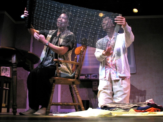 Kat Koshi and Dian Kobayashi in Daniel Akiyama's A Cage of Fireflies. Photo credit: Sammie Choy
