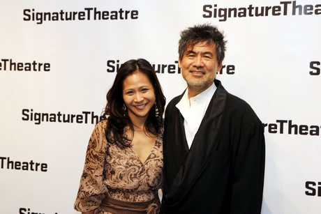 May Adrales and David Henry Hwang. Photo by Lia Chang