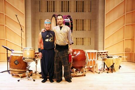 Kenny Endo and Kaoru Watanabe. Photo by Lia Chang