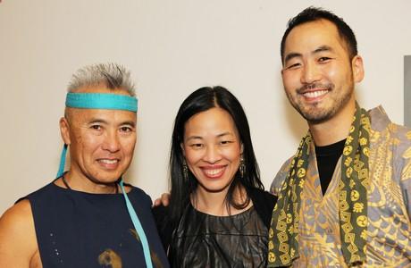 Kenny Endo, Lia Chang and Kaoru Watanabe. Photo by George Hirose