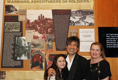 Eva Hwang, David Henry Hwang and Kathryn Layng. Photo by Lia Chang