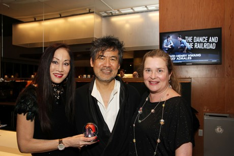 Lucia Hwong-Gordon, David Henry Hwang and Kathryn Layng. Photo by Lia Chang