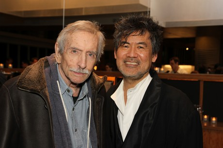 Edward Albee and David Henry Hwang. Photo by Lia Chang