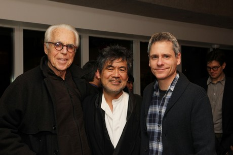 John Guare, David Henry Hwang and Bruce Norris. Photo by Lia Chang