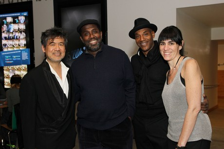 David Henry Hwang, James A. Williams, John Earl Jelks  and Leigh Silverman. Photo by Lia Chang