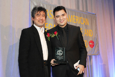 David Henry Hwang presents Jose Antonio Vargas with his award. Photo by Lia Chang