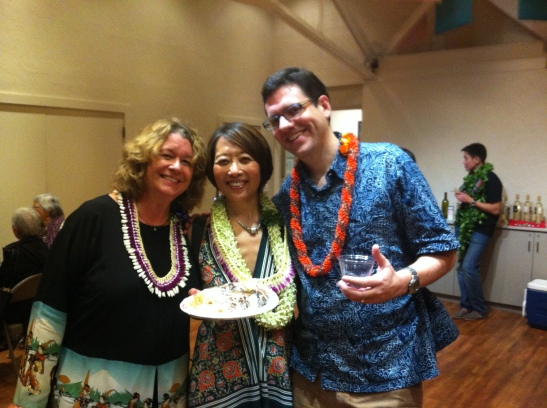 Rebecca Dunning, Managing Director, Honolulu Theatre For Youth; Jeanne Sakata, Eric Johnson, Artistic Director, Honolulu Theatre For Youth