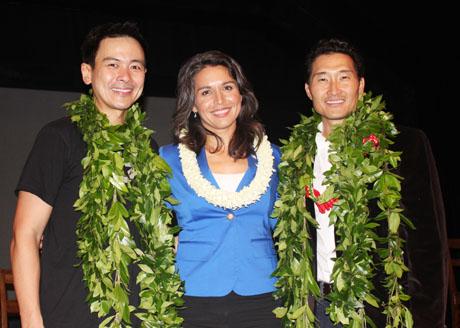 Joel de la Fuente, Congresswoman Tulsi Gabbard of Hawaii, Daniel Dae Kim