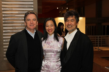 James Houghton, Lia Chang and David Henry Hwang.