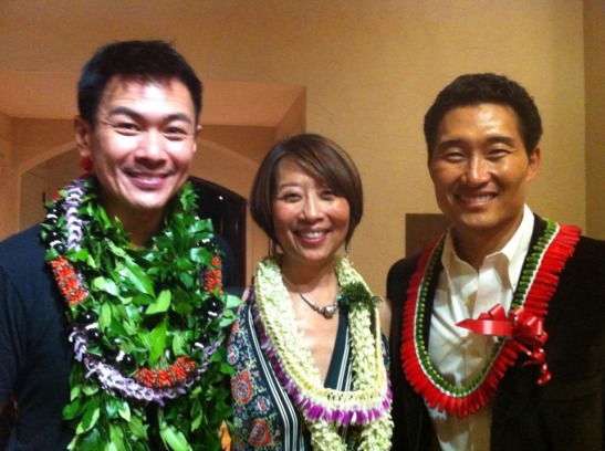 Joel de la Fuente, Jeanne Sakata and Daniel Dae Kim