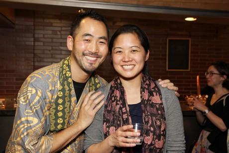 Kaoru Watanabe with his wife Mari Nakano. Photo by Lia Chang