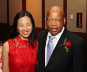 Lia Chang and Rep. John Lewis. Photo by Michael E. Collins