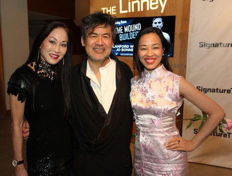 Lucia Hwong-Gordon, David   Henry Hwang and Lia Chang. Photo by Vic Huey