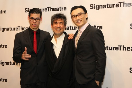 Ruy Iskandar, David Henry Hwang and Yuekun Wu. Photo by Lia Chang